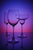 Glazen voor dranken Stock Foto's