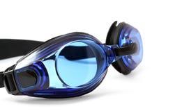 Glazen voor het zwemmen op witte achtergrond. Stock Foto's