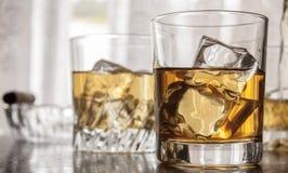 Glazen whisky Stock Foto's