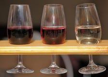 Glazen wijn Royalty-vrije Stock Fotografie