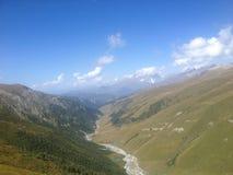 Glazial- Fluss in oberem Svaneti Stockbilder