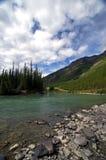 Glazial- Fluss und See stockfotos