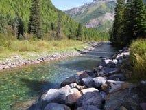Glazial- Flussbett Stockfotografie