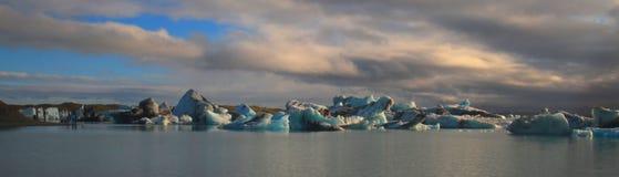 Glazial- Lagune Jorkulsarlon, Island stockbilder