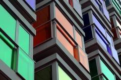 Glazig balkon van de moderne bouw royalty-vrije stock foto's