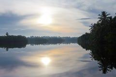 Glazig Meer Marawila, Sri Lanka royalty-vrije stock fotografie