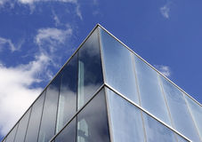 Glazing in blue commercial building Royalty Free Stock Photos