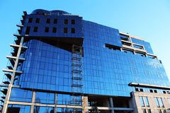 Glazing of new office building Royalty Free Stock Photo