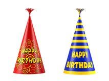 GLB-geïsoleerde verjaardag. Partijhoed Royalty-vrije Stock Foto's