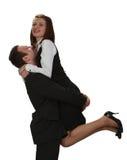 Glück des Paares Stockfoto