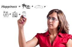 Glück-Konzept (Gruppe Momente) Lizenzfreies Stockfoto