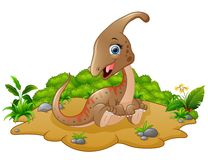 Glückliche Dinosaurierkarikatur Lizenzfreies Stockbild