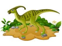 Glückliche Dinosaurierkarikatur Lizenzfreie Stockbilder