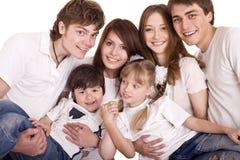 Glückliche Familie, Junge und Mädchen. Stockbild