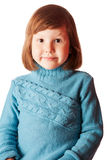 Glückliche fünf Jahre Mädchen Lizenzfreies Stockbild