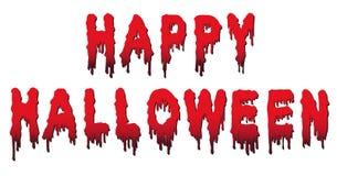 Glückliche Halloween-Wörter - geschrieben in Blut Stockbild
