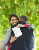 Glückliche Heirat-Antrag Lizenzfreies Stockbild