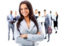 Glückliche junge Geschäftsfrau Lizenzfreies Stockfoto
