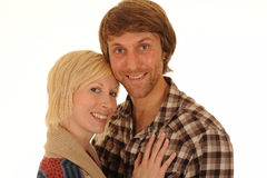 Glückliche junge Paare Stockbilder