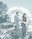Glückliche junge Paare in der Liebe Lizenzfreie Stockfotos