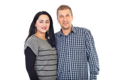 Glückliche lächelnde fällige Paare Lizenzfreies Stockbild