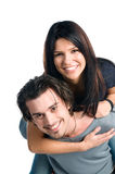Glückliche lächelnde Jugendlichpaare Stockbild