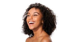 Glückliche lächelnde junge Frau Lizenzfreies Stockbild