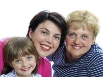 Glückliche Muttertochter und -großmutter Stockfoto