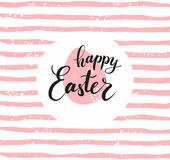 Glückliche Ostern-Beschriftung für Grußkarte Lizenzfreies Stockfoto