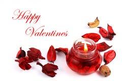 Glückliche Valentinsgrüße Stockbild