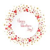 Glückliche Valentinsgruß-Tageskarten-Schablone romantischer Hintergrund Stockbilder