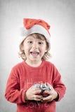 Glückliche Weihnachtsstimmung Stockbild