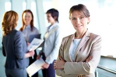 Glücklicher Arbeitgeber Lizenzfreies Stockfoto