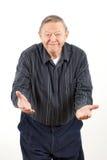 Glücklicher Großvater mit den geöffneten Armen Lizenzfreie Stockfotos