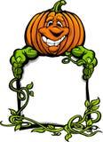 Glücklicher Halloween Jack-O-Laterne Kürbis Stockbild