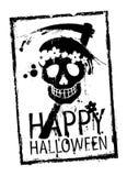 Glücklicher Halloween-Stempel. Stockfotos