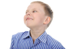 Glücklicher Junge ohne vordere Zähne Stockfotos