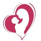 Glücklicher Muttertag Mutterschaft und Kindheit Farbige Illustration Stockbilder
