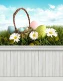 Glücklicher Ostern-Frühlingshintergrund/-hintergrund Stockfotos
