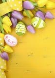 Glücklicher Ostern-Hintergrund Stockfotografie