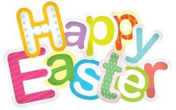 Glücklicher typografischer Hintergrund Ostern Stockfotos