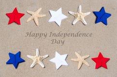 Glücklicher Unabhängigkeitstag USA-Hintergrund Stockfotografie