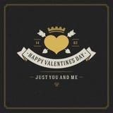 Glücklicher Valentinstag-Gruß-Kartenvektor Lizenzfreies Stockfoto