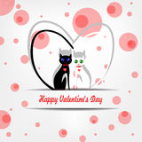 Glücklicher Valentinstagvektor Lizenzfreies Stockbild