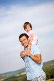Glücklicher Vater Stockfoto