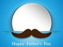 Glücklicher Vater Day Mustache Love Lizenzfreie Stockfotografie