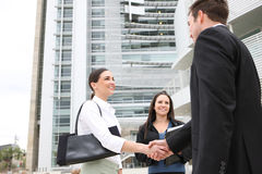 Glückliches attraktives Geschäfts-Team Lizenzfreie Stockfotos
