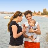 Glückliches Familienportrait Stockfotos