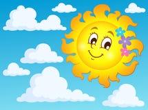 Glückliches Frühlingssonnen-Themabild 2 Stockbild