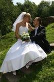 Glückliches geheiratet Lizenzfreie Stockfotos